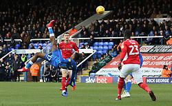Ivan Toney of Peterborough United shoots at goal - Mandatory by-line: Joe Dent/JMP - 26/01/2019 - FOOTBALL - ABAX Stadium - Peterborough, England - Peterborough United v Charlton Athletic - Sky Bet League One
