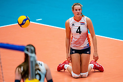 Jolien Knollema of Netherlands in action during United States - Netherlands, FIVB U20 Women's World Championship on July 15, 2021 in Rotterdam