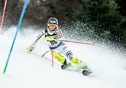 """Andrea Filser (GER) competes during 1st Run of FIS Alpine Ski World Cup 2017/18 Ladies' Slalom race named """"Snow Queen Trophy 2018"""", on January 3, 2018 in Course Crveni Spust at Sljeme hill, Zagreb, Croatia. Photo by Vid Ponikvar / Sportida"""