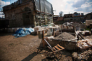The Ferhadija Mosque in central Banja Luka while under reconstruction...