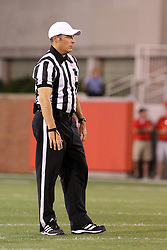27 September 2014:  Referee: Chris La Mange during an NCAA football game between the Austin Peay Governors and the Illinois State Redbirds at Hancock Stadium in Normal IL