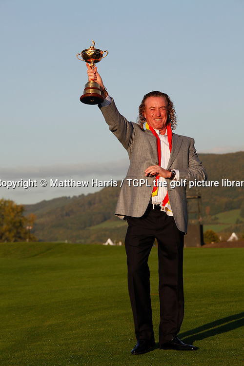 The man with the cigar,the ever popular and often under rated Miguel Angel JIMENEZ (ESP) with the Ryder Cup Session Four_Singles during Ryder Cup 2010,Celtic Manor,Newport,Wales.