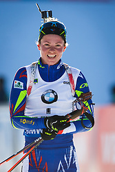 Second placed Habert Dorin Marie (FRA) during Women 10 km Pursuit at day 3 of IBU Biathlon World Cup 2015/16 Pokljuka, on December 19, 2015 in Rudno polje, Pokljuka, Slovenia. Photo by Ziga Zupan / Sportida