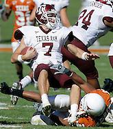 Texas A&M quarterback Stephen McGee against the University of Texas football on Friday, Nov. 24, 2006. Texas A&M won 12-7.