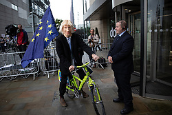 © Licensed to London News Pictures. 09/07/2019. Salford, UK. Pro EU demonstration outside the studio . Boris Johnson and Jeremy Hunt attend a televised hustings at Media City. One of the two will be the next Conservative Party Leader and British Prime Minister. Photo credit: Joel Goodman/LNP