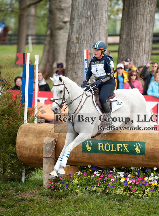 Becky Holder and Courageous Comet at the 2012 Rolex Kentucky Three-Day Event held at the Kentucky Horse Park in Lexington, KY.