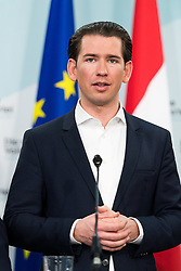 21.09.2019, Bundesparteizentrale, Wien, AUT, ÖVP, Pressekonferenz nach Bundesparteivorstand mit Kandidatenliste für die EU-Wahl. im Bild Bundeskanzler Sebastian Kurz (ÖVP) // Austrian Federal Chancellor Sebastian Kurz during presentation of the candidates for Eurpean Parliment Elections of the Austrian People' s Party in Vienna, Austria on 2019/01/21. EXPA Pictures © 2019, PhotoCredit: EXPA/ Michael Gruber