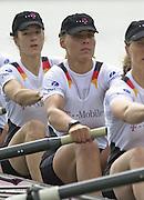2002 FISA World Cup. Hazewinkel. BEL.       Friday  14/06/2002     .email images@Intersport-images.com.[Mandatory Credit: Peter Spurrier/Intersport Images]  .                                 /06/2002.Rowing. .Crew Not Order..GER W8+. Nicole ZIMMERMANN, Dana PYRITZ, Manuela ZANDER, Britta HOLTHAUS, Susanne SCHMIDT, Silke GUENTHER, Anja PYRITZ, Johanna PRINZ, Annina RUPPEL (c) Rowing, FISA WC.Hazenwinkel, BEL