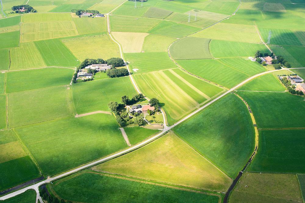 Nederland, Overijssel, Gemeente Kampen, 27-08-2013;  Kampereiland, eiland in de monding van de IJssel, ten noorden van Kampen. Onderdeel van het Nationaal Landschap IJsseldelta.<br /> Kampereiland island in the mouth of the river IJssel, north of Kampen. Part of the National Landscape IJsseldelta.<br /> luchtfoto (toeslag op standaard tarieven);<br /> aerial photo (additional fee required);<br /> copyright foto/photo Siebe Swart.