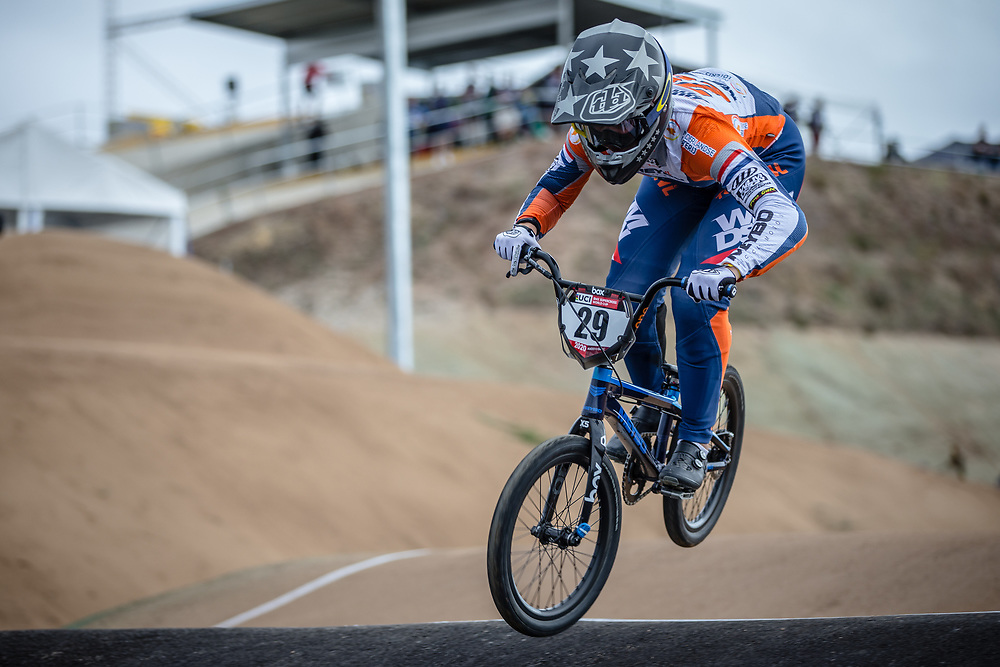 #29 (HUISMAN Ruby) NED at Round 3 of the 2020 UCI BMX Supercross World Cup in Bathurst, Australia.