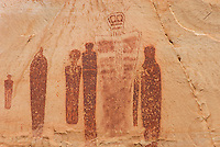 The Great Ghost, barrier style pictographs at The Great Gallery, Horseshoe Canyon, Canyonlands National Park Utah