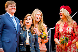 Queen Maxima and King Willem Alexander with Princess Amalia and Princess Alexia attending King's Day Celebrations in Groningen, Netherlands, on April 27, 2018. Photo by Robin Utrecht/ABACAPRESS.COM