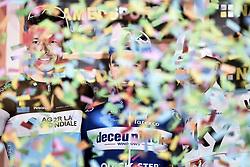 March 23, 2019 - Sanremo, Sanremo, Italia - Foto LaPresse/Marco Alpozzi.23/03/2018 Sanremo (Italia) .Sport Ciclismo.Milano-Sanremo 2019 - edizione 110 - da Milano a Sanremo (291 km) .Nella foto:Oliver Naesen (AG2R La Mondiale), Julian Alaphilippe (Deceuninck - Quick-Step)  Michal Kwiatkowski (Team Sky) ..Photo LaPresse/Marco Alpozzi.March 23, 2018 Sanremo (Italy).Sport Cycling.Tirreno-Adriatico 2019 - edition 110 - Milano to Sanremo (182 miles) .In the pic:Oliver Naesen (AG2R La Mondiale), Julian Alaphilippe (Deceuninck - Quick-Step)  Michal Kwiatkowski  (Credit Image: © Marco Alpozzi/Lapresse via ZUMA Press)