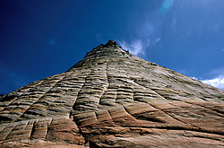 UT: Utah; Zion National Park, Checkerboard Mesa     .Photo Copyright: Lee Foster, lee@fostertravel.com, www.fostertravel.com, (510) 549-2202.Image: utzion211