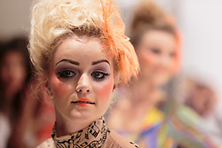 © Licensed to London News Pictures. 14/09/2012. London, England. Catwalk show of Designer Carlotta Actis Barone at Vauxhall Fashion Scout during London Fashion Week. Photo credit: Bettina Strenske/LNP