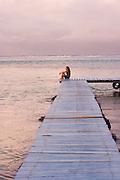 Dock, Pier, Les Tipaniers Hotel, Moorea, French Polynesia