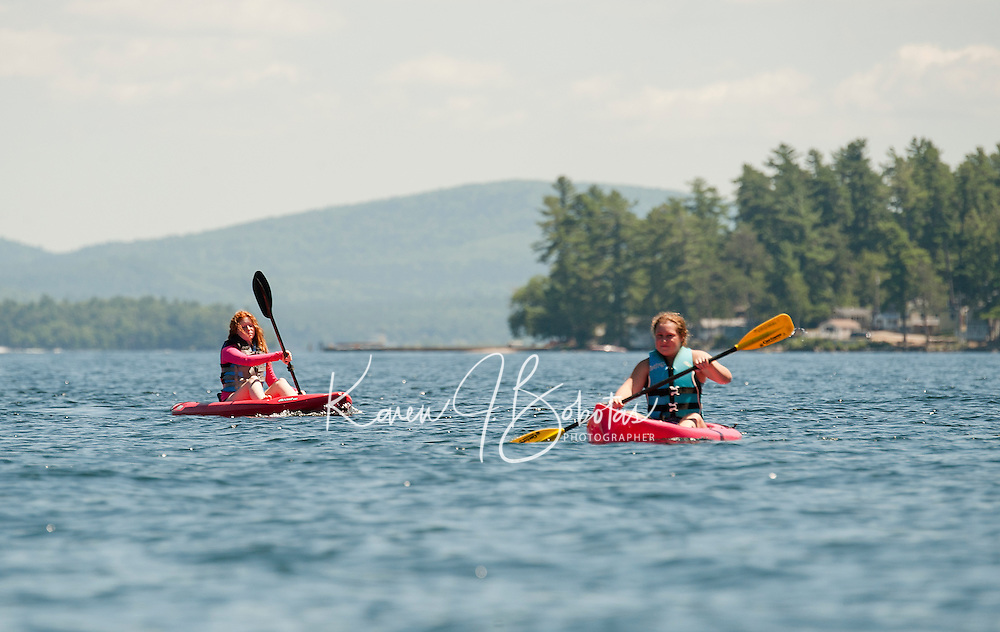 Kayaking on Lake Winnipesaukee.  ©2016 Karen Bobotas Photographer