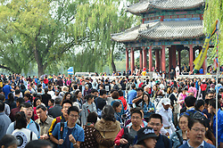 October 3, 2017 - Beijing, Beijing, China - Beijing,CHINA-3rd October 2017: (EDITORIAL USE ONLY. CHINA OUT)..The Summer Palace is crowded with tourists in Beijing, October 3rd, 2017. About 100,000 tourists flock to Summer Palace in Beijing during National Day holiday. (Credit Image: © SIPA Asia via ZUMA Wire)