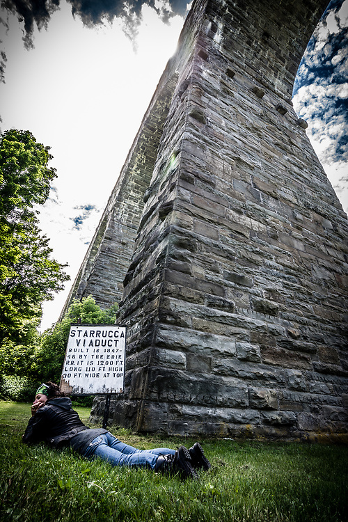 The Starrucca viaduct in Pennsylvania was a nice spot for a break.