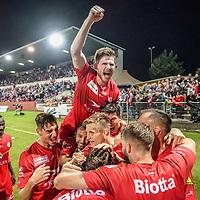 13.09.2019; Winterthur; FUSSBALL SCHWEIZER CUP - FC Winterthur - FC St.Gallen;<br /> Winterthurs spieler jubeln nach dem Tor zum 2:0 Sead Hajrovic (Winterthur) <br /> (Andy Mueller/freshfocus)