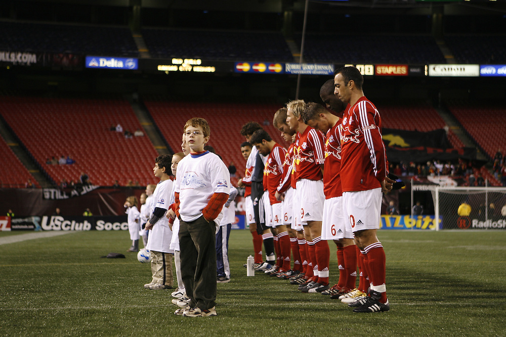Saturday October 14th 2006. .Giants Stadium, East Rutherford, New Jersey. United States..Red Bulls French soccer player Youri Djorkaeff on the field for a game that could be his last one as a professional player against Kansas City at the Giants Stadium.
