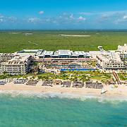 Aerial photo of Hotel Royalton. Riviera Cancun.