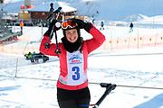 Nina Havel, Teilnehmerin beim Renzo's Schneeplausch vom 23. Januar 2016 in Vella, Gemeinde Lumnezia.