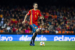 March 23, 2019 - Valencia, SPAIN - 190323 Sergio Busquets of Spain during the UEFA Euro Qualifier football match between Spain and Norway on March 23, 2019 in Valencia..Photo: Fredrik Varfjell / BILDBYRÃ…N / kod FV / 150220 (Credit Image: © Fredrik Varfjell/Bildbyran via ZUMA Press)