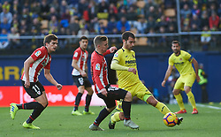 January 20, 2019 - Villarreal, Castellon, Spain - Manu Trigueros of Villarreal and Iker Muniain of Athletic Club de Bilbao during the La Liga Santander match between Villarreal and Athletic Club de Bilbao at La Ceramica Stadium on Jenuary 20, 2019 in Vila-real, Spain. (Credit Image: © Maria Jose Segovia/NurPhoto via ZUMA Press)