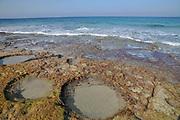 The rocky beach of Achziv, Israel near Rosh Hanikra