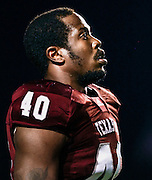 Nov 20, 2010; College Station, TX, USA; Texas A&M Aggies defensive end Von Miller (40) warms up before the game against the Nebraska Cornhuskers at Kyle Field.  Mandatory Credit: Thomas Campbell-US PRESSWIRE