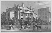 Doric Villa, Regent's Park, engraving 'Metropolitan Improvements, or London in the Nineteenth Century', England, UK 1828 , drawn by Thomas H Shepherd
