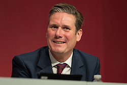 © Licensed to London News Pictures . 25/09/2017. Brighton, UK. KEIR STARMER during floor debate at The Labour Party Conference at The Brighton Centre . Photo credit: Joel Goodman/LNP