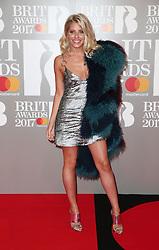 The Brit Awards, Arrivals, O2 Arena, London, UK. 22 Feb 2017 Pictured: Mollie King. Photo credit: MEGA TheMegaAgency.com +1 888 505 6342