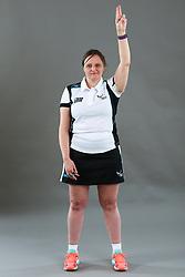 Umpire Rachael Radford signalling suspension