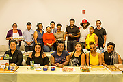 Jamaica, NY - 20 July 2017. Business plan presentations of the second cohort of the 12-week Jamaica FEASTS program at the Queens Public Library. Participants in the second cohort with some of the samples they brought in for the presentation.