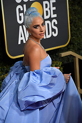 January 6, 2019 - Beverly Hills, California, U.S. - LADY GAGA during red carpet arrivals for the 76th Annual Golden Globe Awards at The Beverly Hilton Hotel. (Credit Image: © Kevin Sullivan via ZUMA Wire)