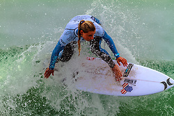 HUNTINGTON BEACH, CA - Lakey Peterson surfs at the quarter finals during the 2014 Vans US Open of Surfing.  2014 Aug 2. Byline, credit, TV usage, web usage or linkback must read SILVEXPHOTO.COM. Failure to byline correctly will incur double the agreed fee. Tel: +1 714 504 6870.