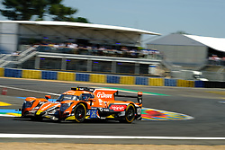 June 17, 2017 - Le Mans, Sarthe, France - G-Drive Racing Oreca 07 rider ROMAN RUSINOV (RUS).in action during the race of the 24 hours of Le Mans on the Le Mans Circuit - France (Credit Image: © Pierre Stevenin via ZUMA Wire)