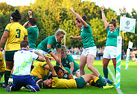 Rugby Union - 2017 Women's Rugby World Cup (WRWC) - Pool C: Ireland vs. Australia<br /> <br /> Ireland's Sophie Spence scores a try, at the UCD Bowl, Dublin.<br /> <br /> COLORSPORT/KEN SUTTON