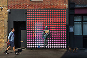 Chivalry is Not Dead painted on a boarded up bar on Curtain Road to support NHS workers  during the coronavirus pandemic on the 24th April 2020 in London, United Kingdom.