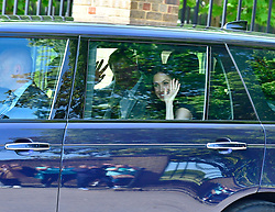 EXCLUSIVE: Prince Harry and Meghan Markle seen leaving Kensington Palace the day before their wedding. 18 May 2018 Pictured: Prince Harry and Meghan Markle. Photo credit: LDNPIX / MEGA TheMegaAgency.com +1 888 505 6342