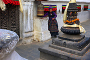 Boudhanath Stupa in Kathmandu Valley is one of the largest Buddhist stupas in the world and the centre of the Tibetan community in Nepal.