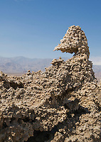 Salt and mud are shaped by wind and rain at the Devil's Golf Course, Death Valley National Park, California.