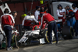 February 21, 2019 - Barcelona Barcelona, Espagne Spain - GIOVINAZZI Antonio (ita), Alfa Romeo Racing C38, pitlane during Formula 1 winter tests from February 18 to 21, 2019 at Barcelona, Spain - Photo  Motorsports: FIA Formula One World Championship 2019, Test in Barcelona, (Credit Image: © Hoch Zwei via ZUMA Wire)