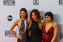 LOS ANGELES, CA NOVEMBER 23: Kendall Jenner, Kylie Jenner and Khloe Kardashian arrive at the 2014 American Music Awards at Nokia Theatre L.A. Live on November 23, 2014 in Los Angeles, California. Byline, credit, TV usage, web usage or linkback must read SILVEXPHOTO.COM. Failure to byline correctly will incur double the agreed fee. Tel: +1 714 504 6870.