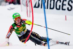 MIELZYNSKIErin of Canada during 1st Run of 50th Golden Fox Audi Alpine FIS Ski World Cup Ladies Slalom, on February 2, 2014 in Podkoren, Kranjska Gora, Slovenia. (Photo By Urban Urbanc / Sportida.com)