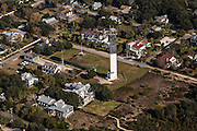 Aerial view of Charleston Light house in Sullivan's Island, SC.