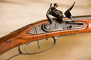 Detail shots of a rifle handmade by North Carolinian Bobby Denton