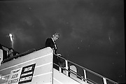 Acting Secretary-General of the U.N., U. Thant, arrives at Dublin Airport.  His visit is part of a tour of European capitals.  <br /> 13.07.1962